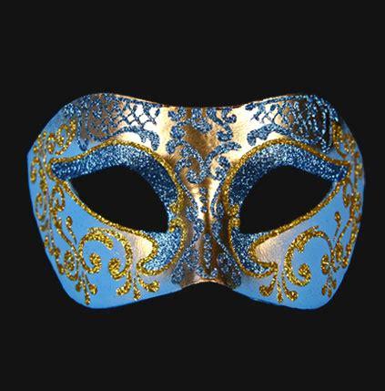 Masquerade In Blue blue masquerade masks masquerade masks quality