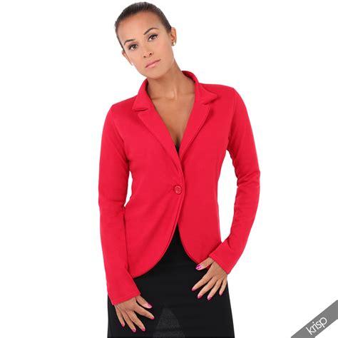 Blazer Jaket Sintetis Casual womens one button casual jersey boyfriend fit tailored office blazer size 4 16 ebay