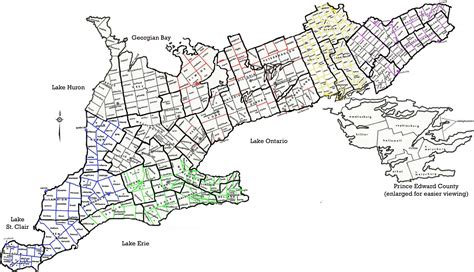 map of western ontario canada ontario map