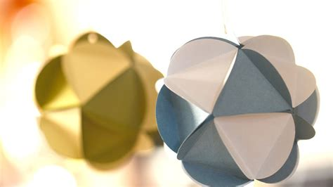 Paper Balls Craft - paper ornaments