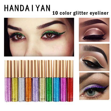 New Waterproof Eyeliner Birthday Eye Liner huamianli glitter shiny eye liner lasting waterproof makeup eyeliner liquid eyeliner