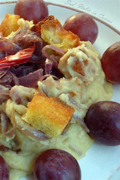 come si cucinano le fave fave secche ripassate con uva sud italia in cucina