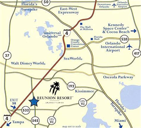 map of reunion florida reunion resort in orlando florida golf resort