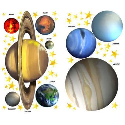 planet stickers for walls planet wall stickers ebay