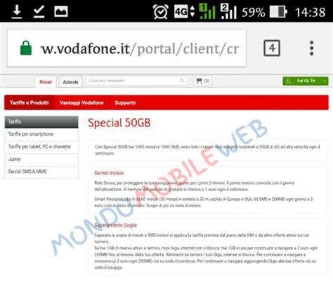tariffe mobili vodafone tariffe mobile 50gb illimitate vodafone l offerta
