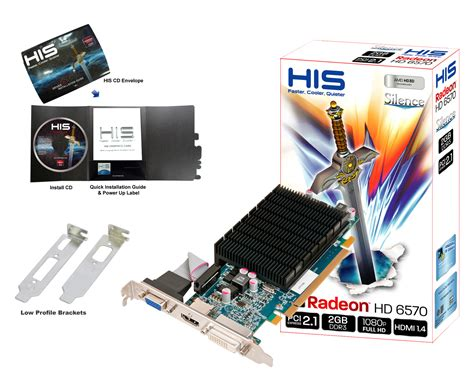 Vga Hd 6570 2gb his 6570 silence 2gb ddr3 pci e dvi hdmi vga