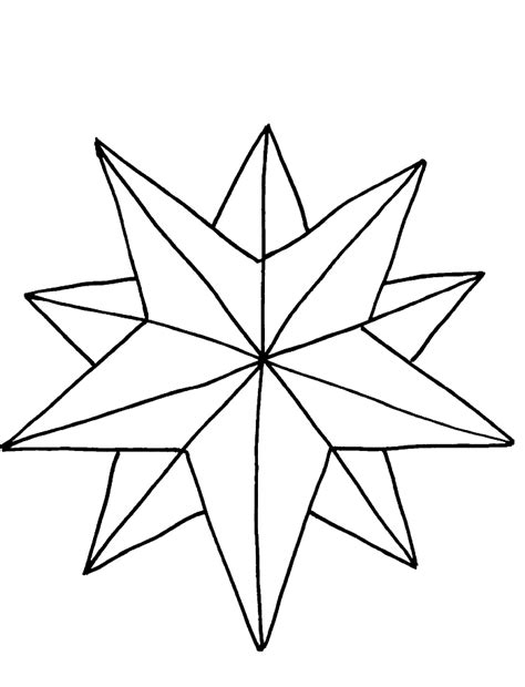 Coloring Page Of The Christmas Star | christmas star coloring page coloring home
