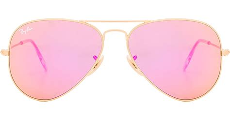0204s Pink Pink Mirror Lens ban aviator flash lenses in pink lyst