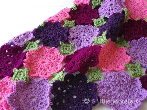 flower pattern crochet blanket kennady s flower garden baby blanket free crochet