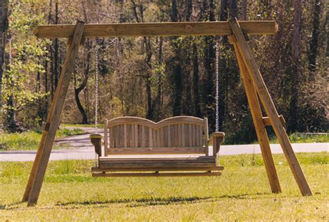 outdoor bench swing great summer woodworking project