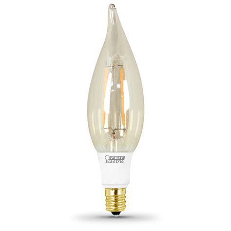 Shop Feit Electric 2 5 Watt 40w Equivalent 2 200k Dimmable Led Light Bulbs Candelabra Base