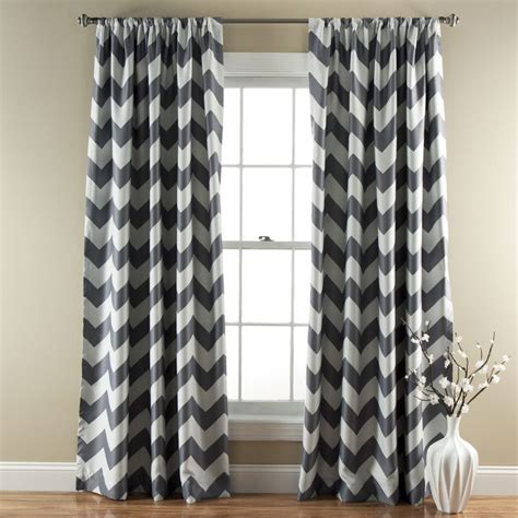 zig zag pattern curtains lush decor chevron blackout curtains panel pair by lush