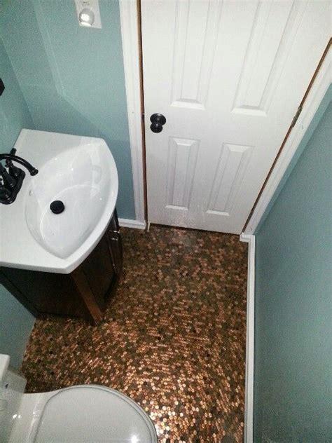 pennies on floor of bathroom 25 best ideas about small half baths on pinterest small half bathrooms half baths