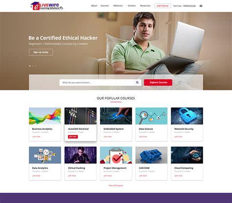 education website educational website design india college
