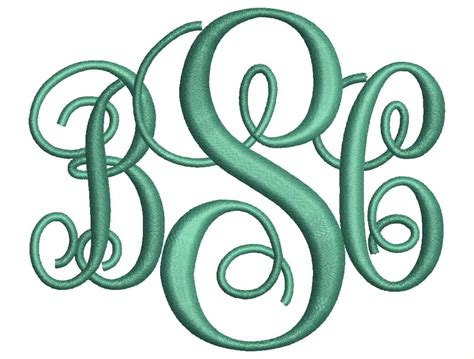 embroidery monogram sale interlocking monogram embroidery font 4 sizes