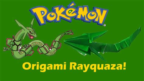 Rayquaza Papercraft - origami pok 233 mon rayquaza