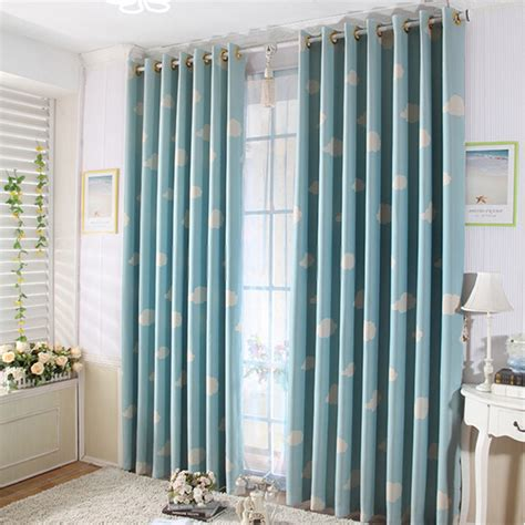 kids bedrooms  curtains   blue color