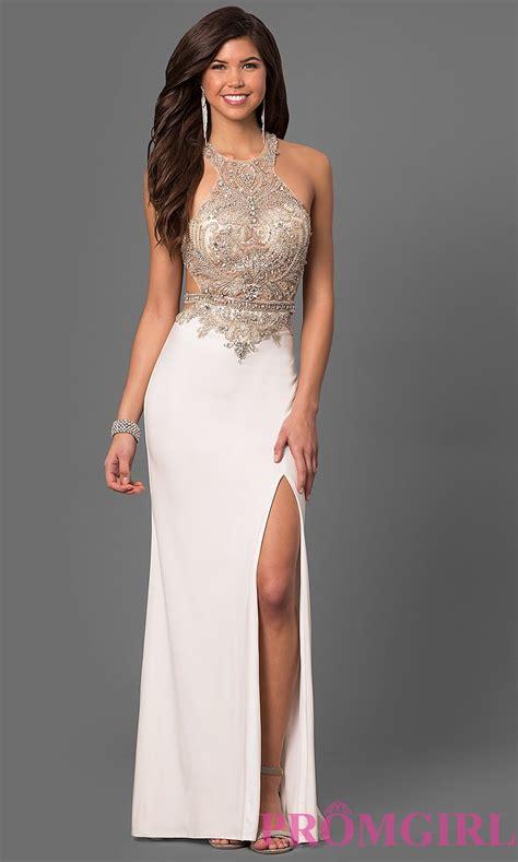 Dress W5796uzi D Black White open back illusion la femme prom dress promgirl