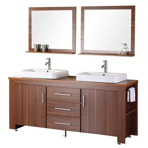 bathroom vanity mirrors home depot design element washington 72 in w x 22 in d vanity in