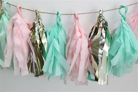 How To Make Tissue Paper Tassels - how to make tissue paper tassel garland smashed peas