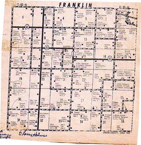 franklin county section 8 greene county iowa iagenweb maps 1963 farm directory