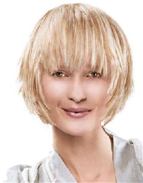 Choppy chin length bob with bangs hairstyle short choppy