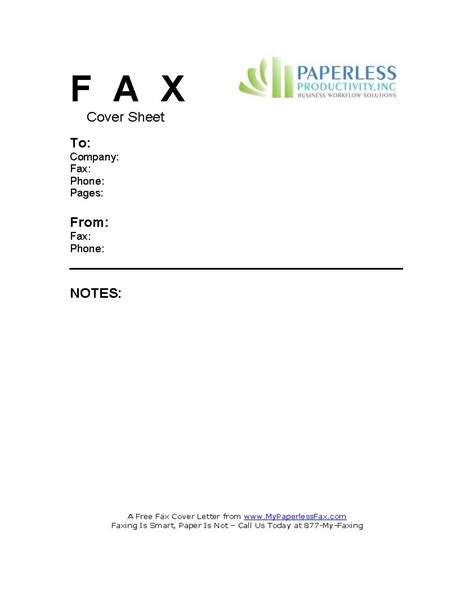 free fax color cover sheets
