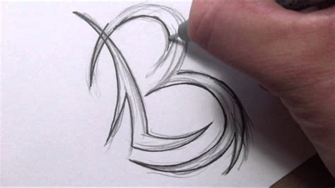 the letter b tattoo designs drawing initials design combining two letters