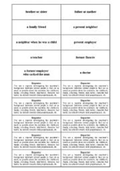 Tell Tale Worksheet the tell tale play