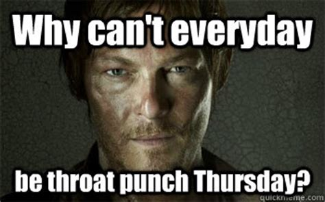 Throat Punch Meme - throat punch thursday the bump