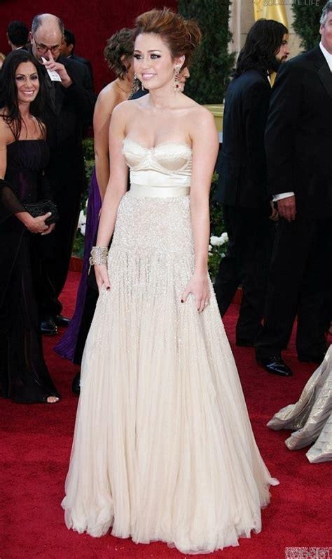 Oscars Carpet Miley Cyrus by Carpet Dresses Miley Cyrus