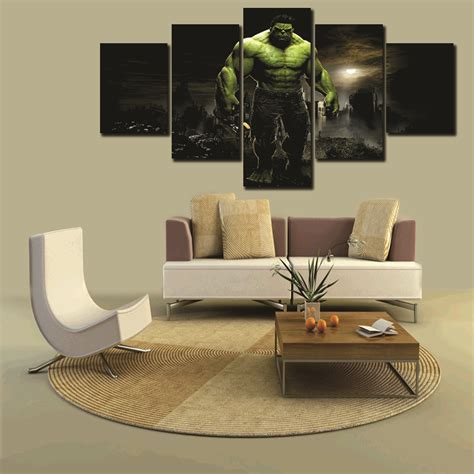 modern wall decor cheap unframed 5 pcs high quality cheap pictures large hd