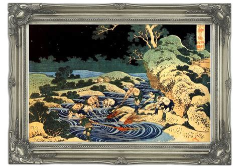 fishing wall murals fishing with torches by hokusai classic mural