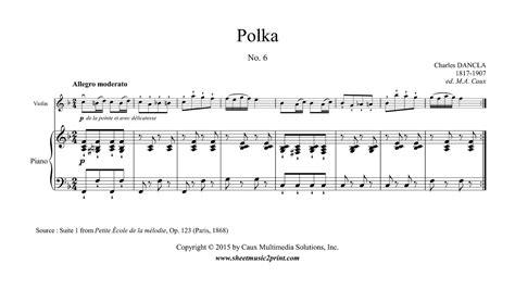 Violine Polka dancla polka op 123 no 6 violin
