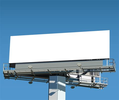 billboard template realistic blank billboard template vector