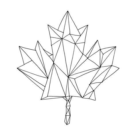 tattoo leaf geometric canadian maple leaf colouring page by donald lee