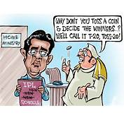 Cricket Toss  Funny Cartoon About IPL Indian