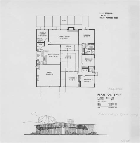 eichler style house plans fairhills oc 274 574 claude oakland 1953 sq ft