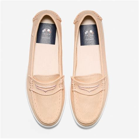 light pink loafers cole haan shoes nantucket canvas light pink loafer flat