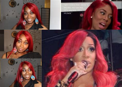 k michelle red inspired wig nelly freetress equal synthetic lace front deep