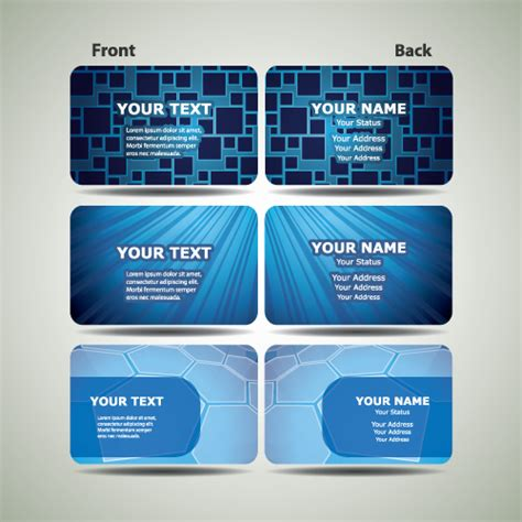 futuristic business card template blue futuristic business card design vector 02