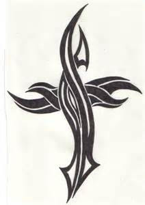 Tribal cross by reaperxxiv designs interfaces tattoo design 2006 2015