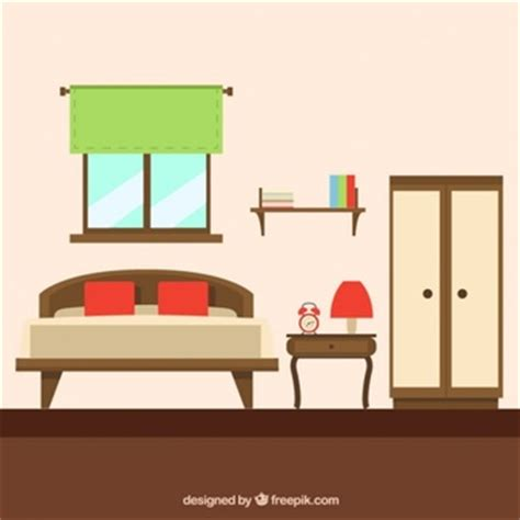 bedroom interior vector vector free