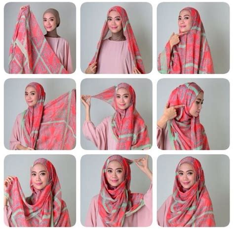 tutorial jilbab dua jilbab cara memakai jilbab segi empat kreasi modern