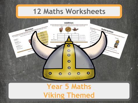 viking themed maths worksheets year 5 tes teaching