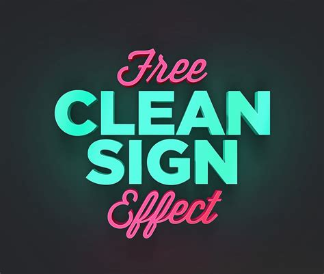 photoshop text templates free free clean sign text effect freebies fribly