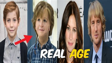 boy actor movie wonder real age of wonder actors 2018 youtube