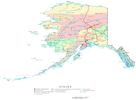 printable map directions alaska printable map