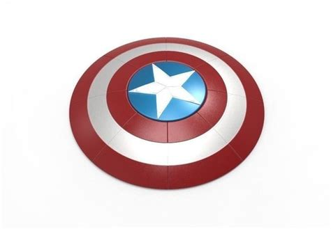 printable job application for captain d s captain america shield 3d print model cgtrader