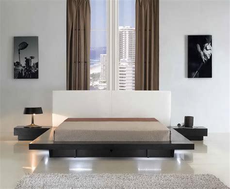 modern bedroom set with led lighting system modern opalcii platform bed with lights collection las vegas